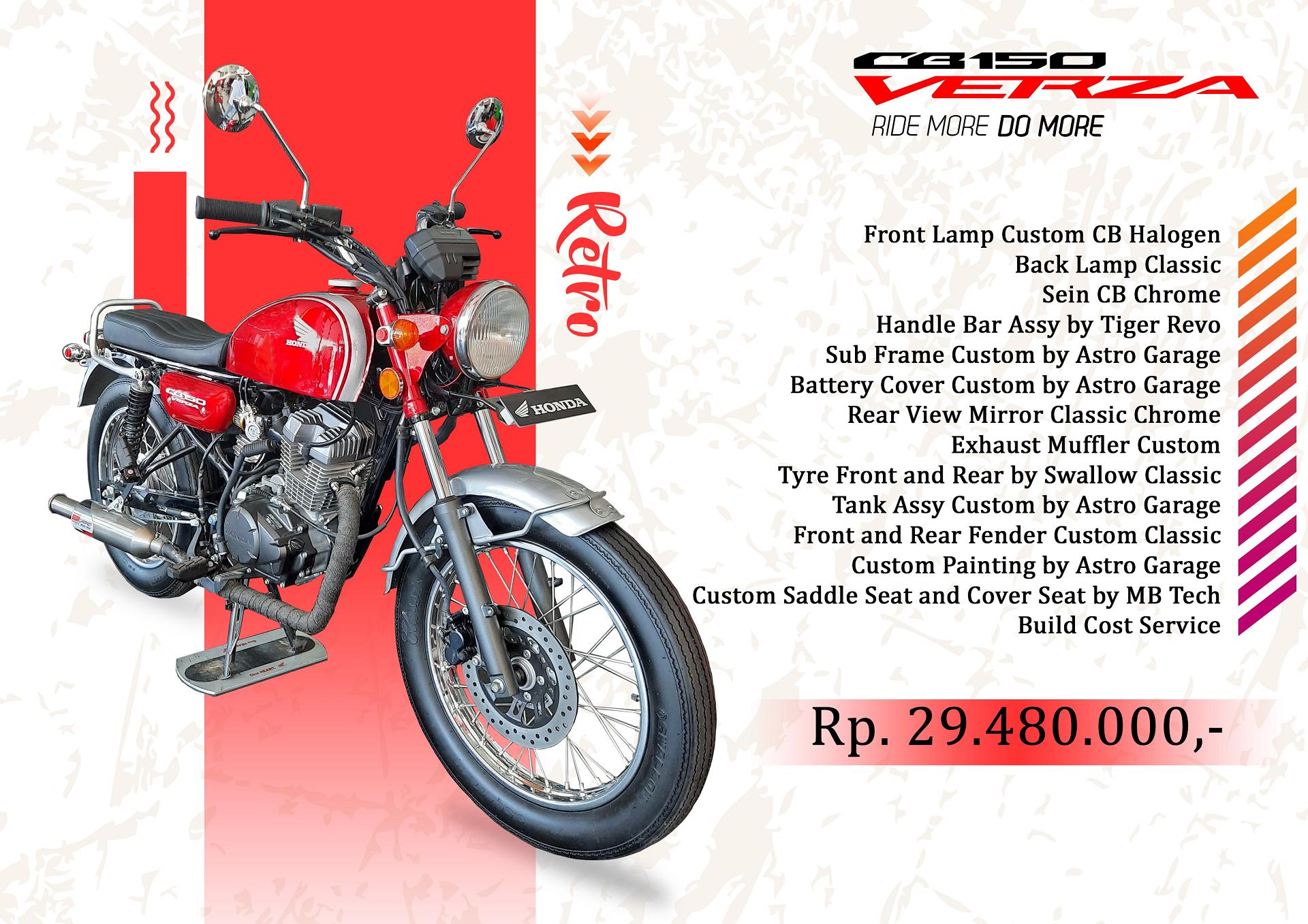 Custom CB Verza 150 - Retro