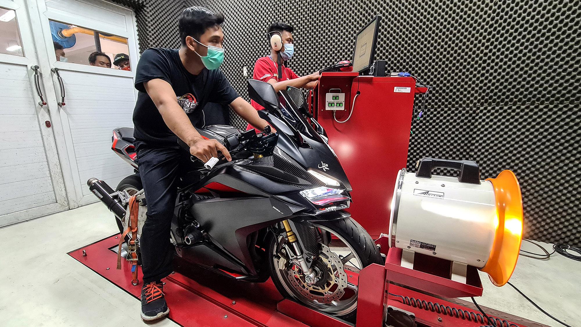 Adu Power CBR Dalam Honda Dyno Battle Di Yogyakarta